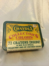Crayola Collector's Colors LIMITED EDITION! 72 Crayons; 8 retired!  NEW IN BOX!