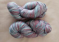 Luxury Yarn Superwash Wool Tencel 2x 100g skeins variegated