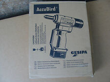 Gesipa Accubird 14.4V li-ion Cordless Riveting Tool  2 x  Battery  !!!  NEW !!!