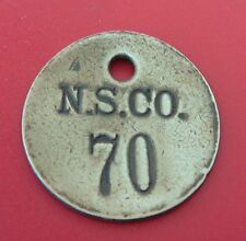 Old Tool Check Brass Tag: NATIONAL SUPPLY CO; Toledo/Pittsburgh; Oil & Gas Well