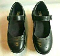 JOYA  Night MARY JANE Black ORTHOLITE Shoes Leather Women sz US 7.5 EU  38-1/3