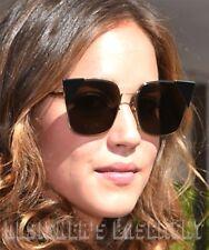 d2cee983c FENDI black tips LEI Gold-tone metal Cat Eye FF0191S Sunglasses NWT Authent  $550