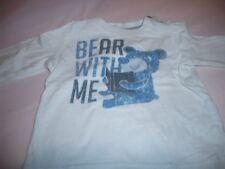 Esprit - T-Shirt Langarm  62 Blau m.Print  SÜSS  TOPZUSTAND