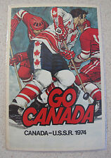 Russian Soviet USSR Go Canada Team Hockey Postcard to Andre Lacroix 1974