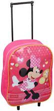 Disney Minnie Mouse Kids Wheeled Trolley Bag School Travel Cabin Holiday Bag