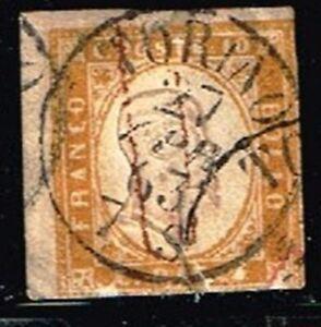 ITALY - SARDINIA - 1855 -1863 King Victor Emmanuel II ( TORINO CANCEL)   no 2188