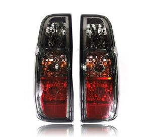 REAR TAIL LIGHTS LAMP BLACK SMOKE RED LENS FOR NISSAN FRONTIER NAVARA D40 05-14