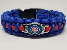 Chicago Cubs Paracord Bracelet Blue/Red fits a 7.5 inch wrist