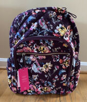 Vera Bradley Iconic Campus Tech Backpack Indiana  Rose Floral School Bag NWT
