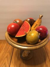 Group Of Nine Vintage Pieces Of Various Beautiful Wood Fruit Ships N 24h