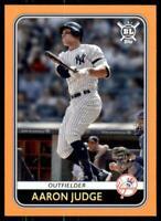 2020 Big League Base Orange #203 Aaron Judge - New York Yankees