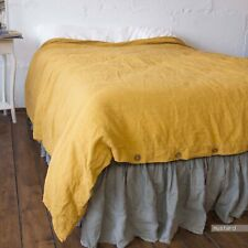 French LINEN DUVET COVER pillowcases linen bedding Stonewashed 100% linen flax