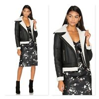 GLAMOROUS | Womens Faux Suede / Sherpa Leather Jacket  [ XS or AU 8 / US 4 ]
