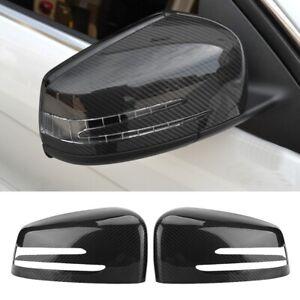 Carbon Fiber Rear View Mirror Cover For Mercedes-Benz W176 W204 W212 W221 X204