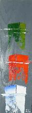 tableau original contemporain océan mer barque peinture art oil painting bois