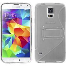 Coque en Silicone Samsung Galaxy S5 -  transparent + films de protection