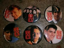 Lot Of 5 Vintage New Kids On The Block Button / Pins Nkotb