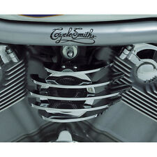Cycle Smith Chrome Finned Horn Cover for Harley Big Twin & Sportster Models