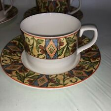 Royal Doulton Everyday Cinnabar Cups Saucer sets 1996 Fine China  Lot of 4