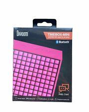 Divoom Timebox-Mini_Pink Lautsprecher Bluetooth 5 Watt Reveil Und Display Leds