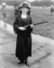 Photograph of  Annie Oakley with Buffalo Bills Rifle  Year 1922   8x10