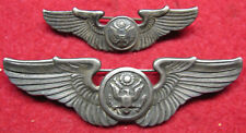 Two Pair Sterling Air Crew Wings, WWII with Pin Backs