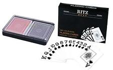 Ritz Playing Cards 100% Plastic Poker Size Jumbo Index