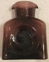 "Vintage Blenko Glass Water Bottle Double Spout 8"" x 6.5"" x 3"""