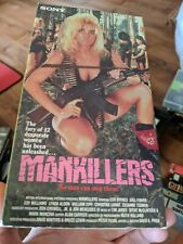 MANKILLERS RARE VHS DAVID PRIOR PRE-AIP STUDIOS SONY RELEASE! LADY JUNGLE ACTION