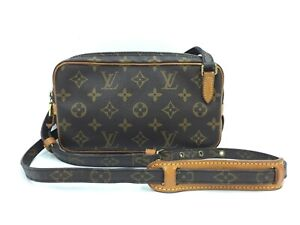 Auth LOUIS VUITTON Vintage Monogram MARLY BANDOULIERE Shoulder bag 1A060030n""