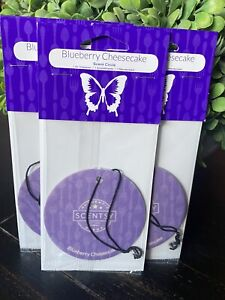 3 Scentsy Scent Circle Lot Car Air Freshener Free Ship Blueberry Cheesecake