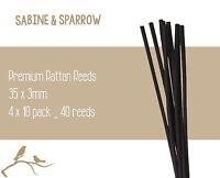 4 x 10 Pack_ 40 Reeds_Premium Reed Diffuser Rattan REEDS/STICKS_Black Long 30cm