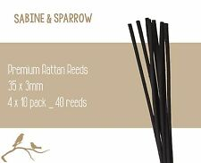 4 x 10 Pack_ 40 Reeds_Premium Reed Diffuser Rattan REEDS/STICKS_Black Long 30cm