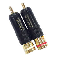 WBT-0144 Gold plated RCA plug lock Soldering Audio/Video plugs Connect WU