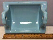 Vntg Retro Robbin's Egg Blue Ceramic Porcelain Bathroom Toilet Paper Roll Holder