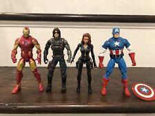 Marvel Legends lot loose Avengers Winter Soldier Black Widow Iron Man Cap
