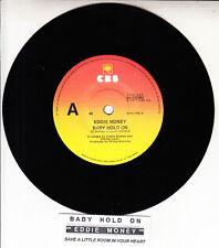 "EDDIE MONEY Baby Hold On 7"" 45 rpm vinyl record + juke box title strip"