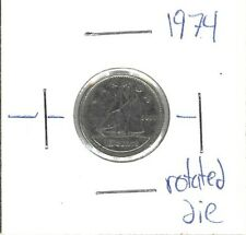 10 cent canadian 1974 rotated die *free shipping*