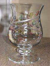 Partylite Jardiniere Footed Hurricane candle holder with Partylite candle  *EC*