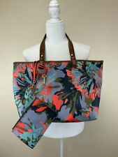 Fossil Watercolor Floral Large Rachel Shopper Tote Purse With Wristlet Pouch