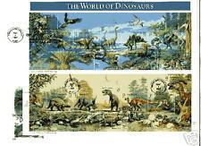 3136 Dinosaurs Artcraft full pane FDC