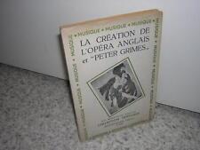 1947.création opéra anglais & peter grimes.envoi autographe d'Anne Brierre