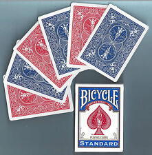 1 DECK Bicycle DOUBLE BACK RED-BLUE gaff magic playing cards