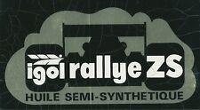 Autocollant sticker sport automobile racing car IGOL rallye ZS HUILE