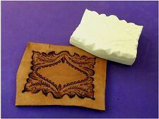"Ozark Floral Full Frame Leather Emboss Plate 2 3/4"" x 3 1/2"""