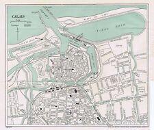 CALAIS Street Plan / Map of the Town - Vintage Folding Map 1935