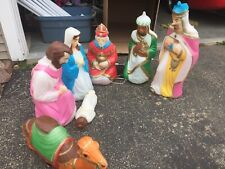 Empire illuminated Blow Mold Nativity Set with three wisemen and camel
