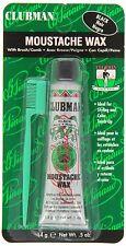 Pinaud Clubman Moustache Wax Sideburn Beard Styling Grooming Waxing BLACK
