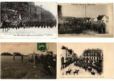 MILITAIRE MILITARY GUERRE RUSSIAN ARMY IN FRANCE 14 CPA + 5 TRADE CARDS