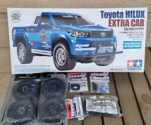 Tamiya 1/10 Toyota Hilux Extra Cab 4WD CC-01 RC Kit with Essential Hop Ups!!